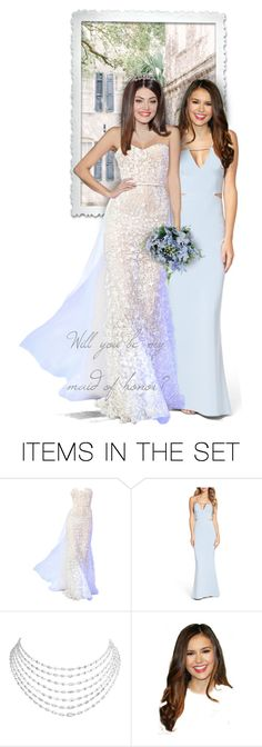 """Make your best friend your maid of honor"" by anna-nemesis ❤ liked on Polyvore featuring art, bride, wedding and MaidOfHonor"