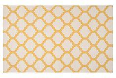 Laurel Flat-Weave Rug, Ivory/Gold on OneKingsLane.com