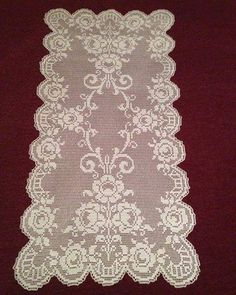 Crochet Dollies, Crochet Doily Patterns, Crochet Motif, Knit Crochet, Crochet Curtains, Crochet Tablecloth, Lace Stencil, Filet Crochet Charts, Fillet Crochet