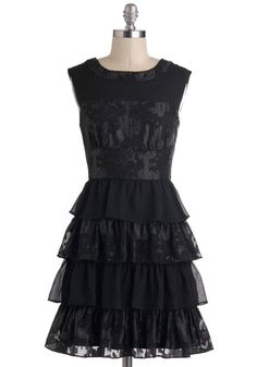 Material Twirl Dress, #ModCloth #partydress - What a perfect little black dress.