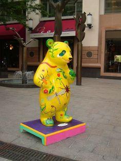 Panda Panda, Panda Bears, Standing Poses, Animal Party, Public Art, Kawaii, Street Art, Whimsical, Entertaining
