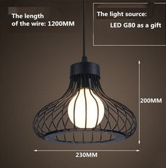 LOFT lamp Vintage pendant light LED light balck iron metal cage lampshade warehouse style lighting light fixture-in Pendant Lights from Lights & Lighting on Aliexpress.com | Alibaba Group