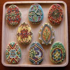 Pysanky Egg Cookies-Rebecca Weld The Cookie Architect