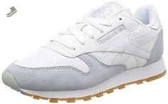 Reebok - Classic Leather Perfect Split Pack White - AR2615 - Color: Grey-White - Size: 9.0 - Reebok sneakers for women (*Amazon Partner-Link)