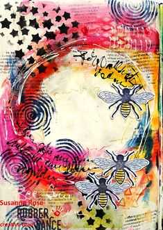Susanne Rose Designs: Mixed Media Journal Video with Crayons