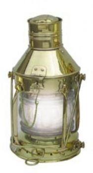 Ankerlampe Messing, elektrisch 230V, H: 32cm