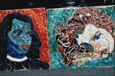 mosaic faces by kat gottke