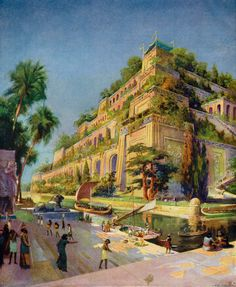 Illustration of Reconstruction of the Hanging Gardens of Babylon                                                                                                                                                                                 More
