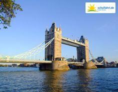 Die Tower Bridge. www.schulfahrt.de #TowerBridge #London #England #UK