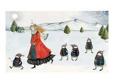 Icelandic saga illustrated print Maiden with by ChasingtheCrayon, £13.00