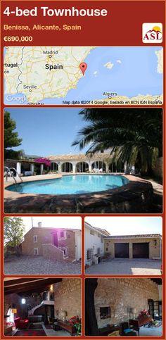 4-bed Townhouse in Benissa, Alicante, Spain ►€690,000 #PropertyForSaleInSpain