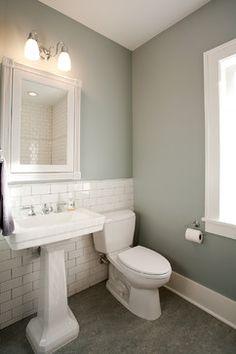 Marmoleum Flooring Bathroom and love the wall color too