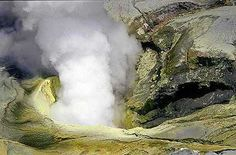 The vent inside Bromo's crater