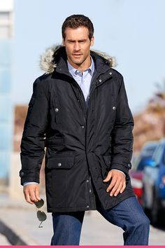 Parkas med avtagbar hette Parka, Rain Jacket, Windbreaker, Raincoat, Winter Jackets, Fashion, Scale Model, Winter Coats, Moda