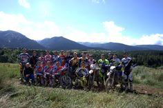 Stage 2014 au CREPS CNEA de Font Romeu. Photo prise sur le terrain de moto cross à Bolquère