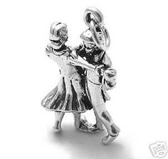 925 Sterling Silver Dancing Couple Charm #Traditional