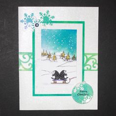 This is the brand new set from the Sharon Bennett Collection at Hobby Art. Clear set consists of 16 stamps. Card by Anna Flanders