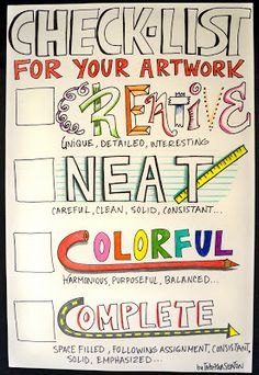 A little extra reminder for students when completing art work….really good when adding artwork to stories etc.