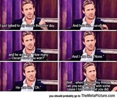 Ryan Gosling's Little Cousin << well, it's a good thing he doesn't have to lie anymore, haha