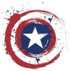 Captain America Shield Paint Splatter Design
