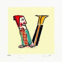LetteraV. Alfabeto di Lele Luzzati, Emanuel Luzzati, c1965?