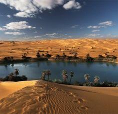 Oase in der Wüste, Libyen