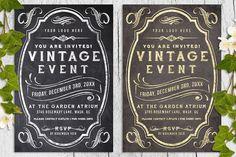 Vintage Chalk and Foil Flyer Bundle from DesignBundles.net