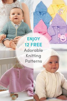 Click on the image and sign up to our free newsletter today to get your 12 free adorable knitting patterns to download and enjoy right now.  It couldn't be easier. And not only do you get these 12 free patterns today, you will also receive awesome deals, inspiration, reviews and much more!