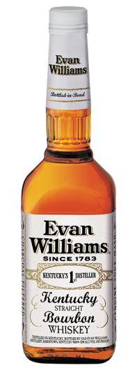 """Heaven Hill Distilleries - Evan Williams Bottled in Bond """"White Lable"""" Kentucky Straight Bourbon Whiskey"""
