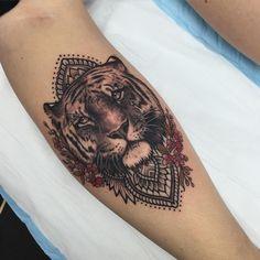 Instagram Beautiful tiger tattoo