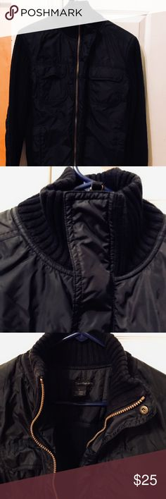 Calvin Klein black jacket men's small I love this jacket from Calvin Klein, but my husband doesn't fit in it anymore.  It was gently worn and in excellent condition. Calvin Klein Jackets & Coats
