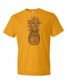Pineapple Lovers Graphic Black Pineapple Art Men's Short Sleeve T-Shirt