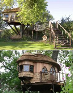 Blue Forest's best-known treehouse is located on the grounds of the Amberley Castle Country Hotel in Scotland. It's used as a recreational getaway space for hotel guests, and also as a multi-purpose venue for corporate entertainment, meals, weddings and private parties.
