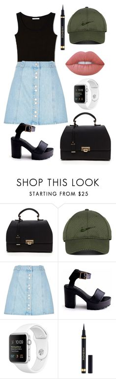 """""""Untitled #88"""" by rainthunderari ❤ liked on Polyvore featuring NIKE, River Island, Yves Saint Laurent and Lime Crime"""