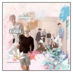 """MYNAME - JunQ [Junkyu] & Chaejin"" by kairimikio ❤ liked on Polyvore featuring art"