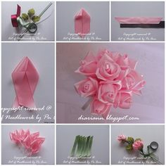 Silk DIY Ribbon Rose Simply Way - Cool Creativity