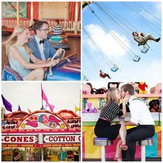 Carnival Date Inspiration, bumper cars, cotton candy