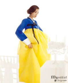 Hanbok, korean traditional clothes / My wedding / 신부 한복, 꽃 같은 색을 담다 / 숙현한복