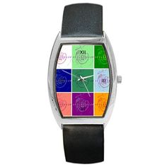 """All appleartcom's products are from the original paintings of the artist/designer Jocelyn Apple. Kindly see: (www.facebook.com/appleartcom)    (www.cowcow.com/appleartcom). Appleartcom Tonneau Leather Watch Barrel Style Metal Watch. This unisex watch represents practicality and great value all rolled into one, it makes this accessory a perfect gift for family and friends on all occasions.Face of the watch is made from stainless steel measuring approximately 1"""" x 1.5"""".Watch band made from…"""