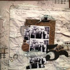 one of the layouts in Tim holtz booth at CHA!!