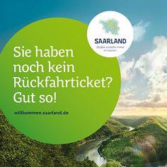 """Großes entsteht immer im Kleinen"""" so lautet das Motto der Saarland Kampagne. Ohne Rückfahrtticket ins Saarland. Das ist gut, dann bleiben Sie hier :) (www.facebook.com/... ). Die Kampagne soll das Saarland bei jungen Menschen beliebter machen und dazu dienen dem Fachkräftemangel im Saarland entgegenzuwirken.#kampagne #jvm #saaris #zpt #saarland #marketing"""