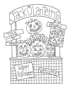 Free Dearie Dolls Digi Stamps: Jack O Lantern Booth
