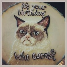 #GrumpyCat #cake For more Grumpy Cat stuff, gifts, and meme visit www.pinterest.com/erikakaisersot