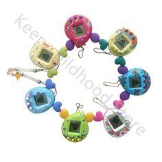 Farbe Zufällig Virtuelle Cyber Digitale Haustiere Elektronische Tamagochi Haustiere Retro Game Lustige Spielzeug Handheld Spiel Maschine Für Geschenk KA152