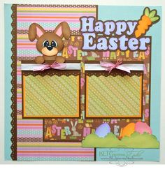 BLJ Graves Studio: Happy Easter Scrapbook Page