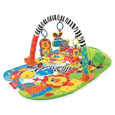 This ingenious flexible Playgym is designed to engage baby with multiple features, designed to entertain, engage and delight all of baby's senses, in a whole new way. Introducing the 5 in 1 Safari Gym – a Playmat a tummy time mat, a Playgym or a Cot Mobile or Cot Toy side, all in one. Whether you decide to lay baby on their tummy, back, in or out of the cot, it is so simple to change from Playmat to Cot Mobile to Cot Side Toy and back again. The Safari 5 in 1 Gym has bright colorful and…