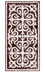 These felt rugs, known as Shyrdak, is an old tradition of the nomadic Kyrgyz people. These rugs are pieces of art, incorporating sacred myths and symbols and the cyclical rhythm of the nomads world…