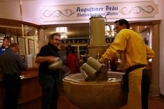 I can't wait to get a giant mug of beer  with Billy, Augustiner Braustubl Tavern, Salzburg.