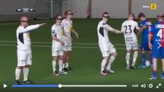 Funny soccer with VR glasses