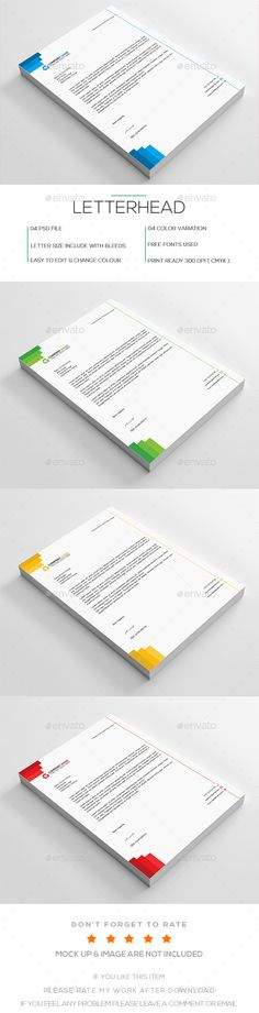 Mansy Design Tools Stylish mauve Letterhead PSD Template